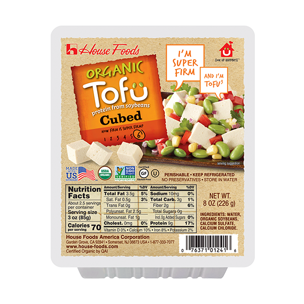 Organic Super Firm Tofu Cubed