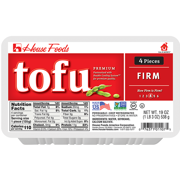 Premium Tofu Firm 19oz 4pcs