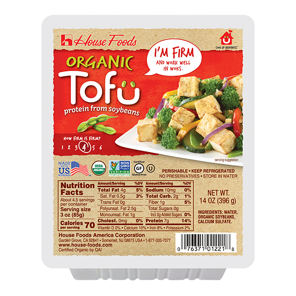 Organic Tofu Firm House Foods