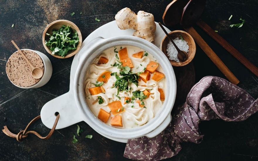 5-Ingredient Coconut Noodle Soup