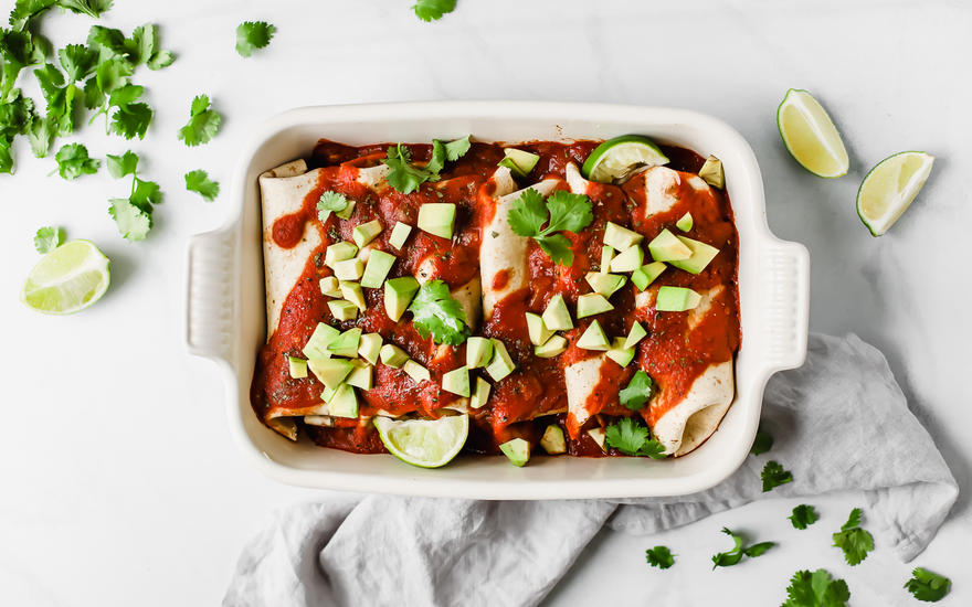 5-Ingredient Vegan Enchiladas