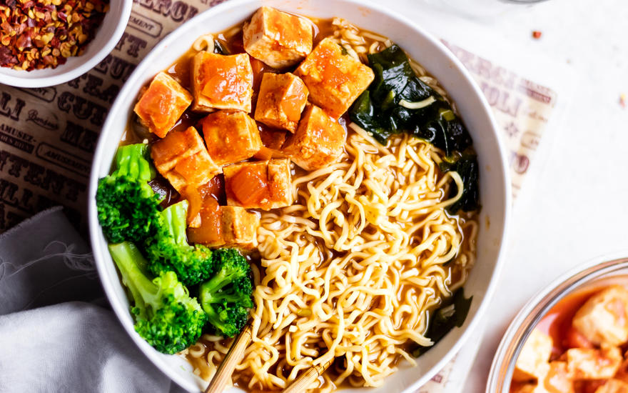 Gochujang-Tofu Stir Fry with Ramen