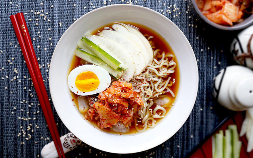 Cold Shirataki Noodle Soup (Naengmyeon)