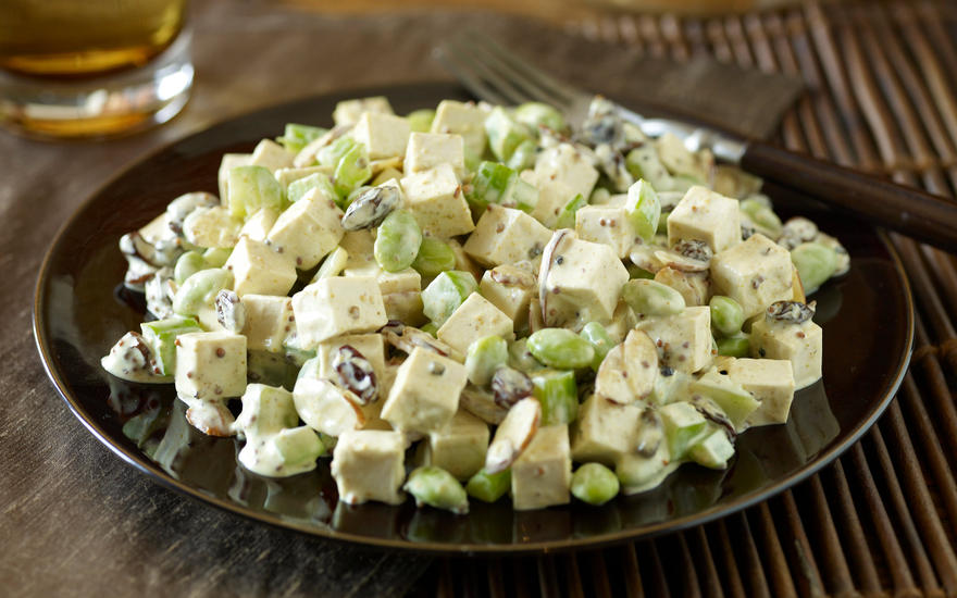 Curried Tofu and Edamame Salad