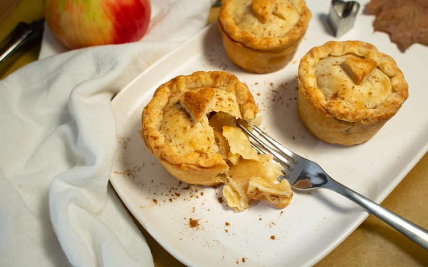 Mini Vegan Apple Pies with Tofu