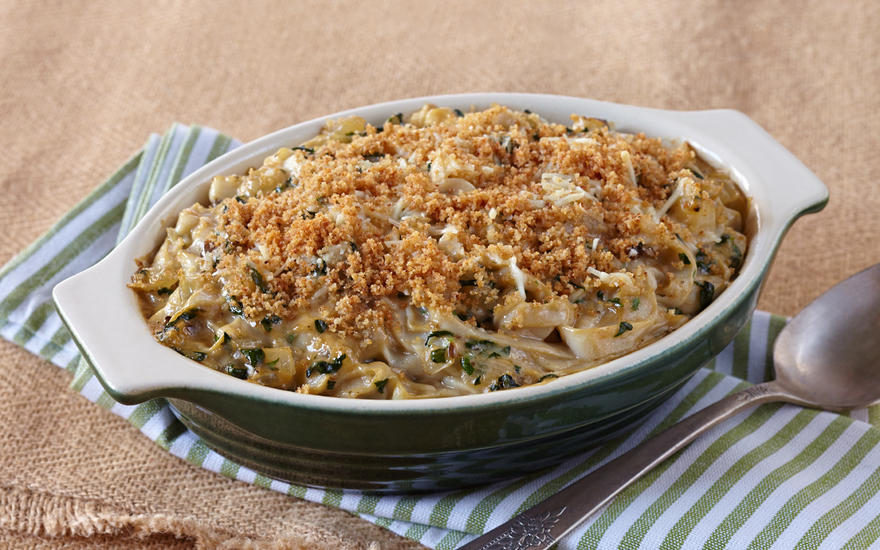 Spinach Noodle Bake