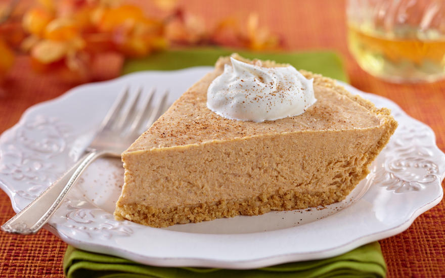 Tofu Pumpkin Cheesecake