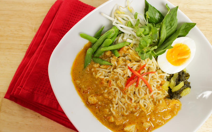 Tofu Shirataki Noodles with Curry Sauce