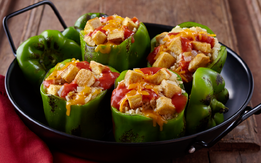Tofu Stuffed Bell Pepper