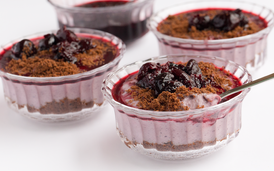 Chocolate Cherry Pie Tofu Parfaits