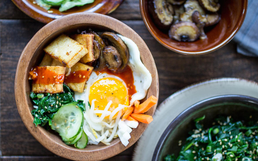 Vegetarian Tofu Korean Bibimbap