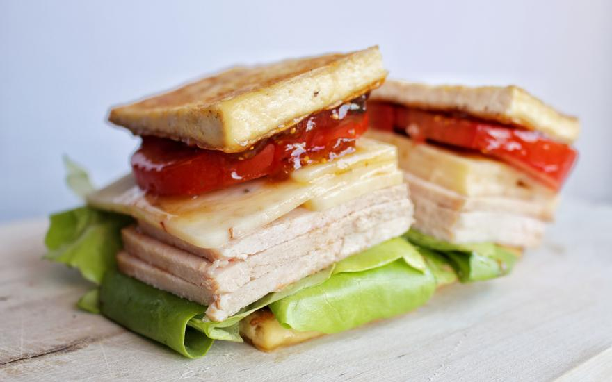 Savory Post-Thanksgiving Breadless Sandwich (Low Carb)