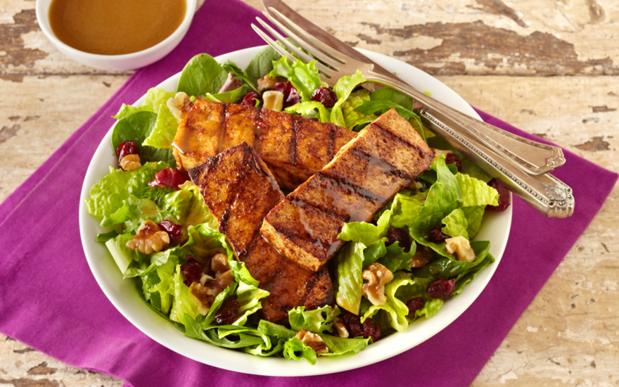 Spicy Grilled Tofu Salad