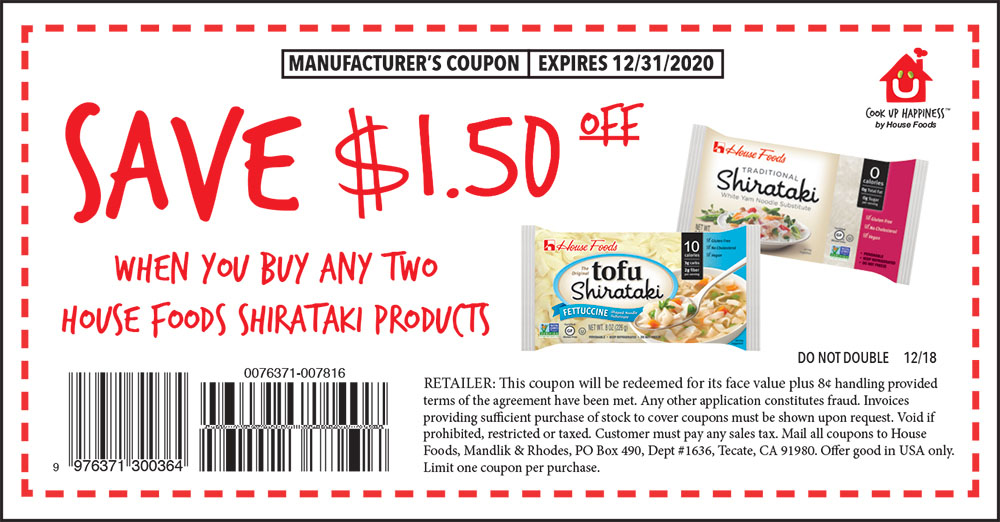 Promotions Coupons House Foods